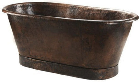 hacienda free standing copper tub
