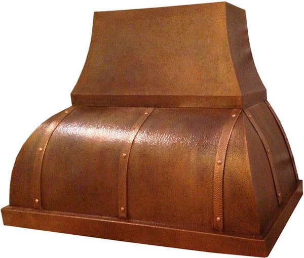 made to order mexican copper kitchen vent hood