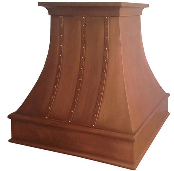 made to order designer copper kitchen cook-top hood