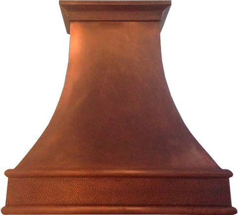 classic copper cook-top hood