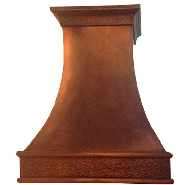 made to order classic copper kitchen cook-top hood