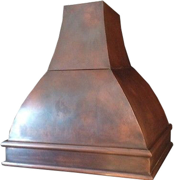 made to order spanish copper kitchen vent hood