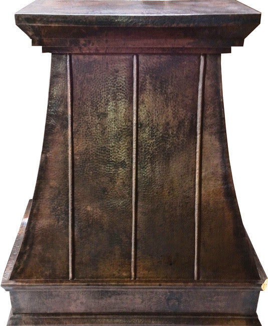 country copper cook-top hood
