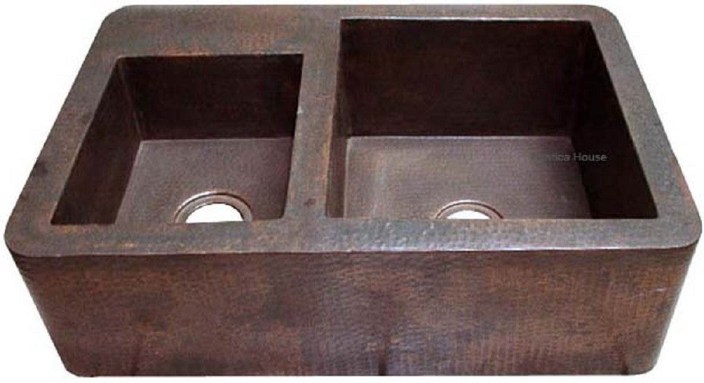 manufactured mexican apron copper kitchen sink