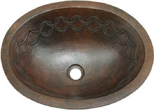 vintage oval copper bathroom sink
