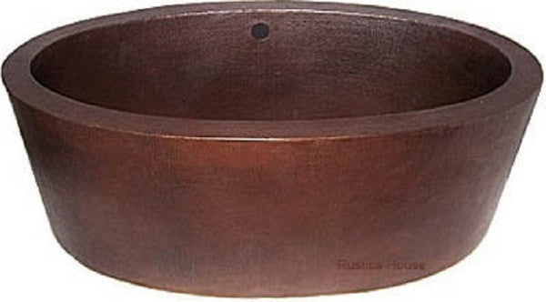 antique artisan made copper tub