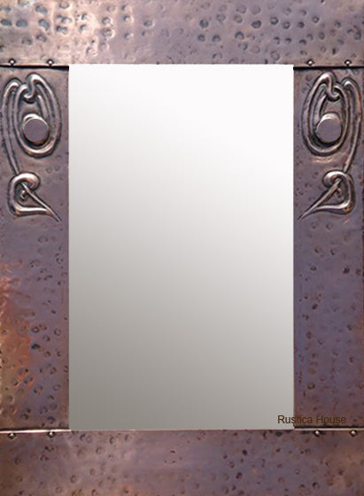 designer copper mirror