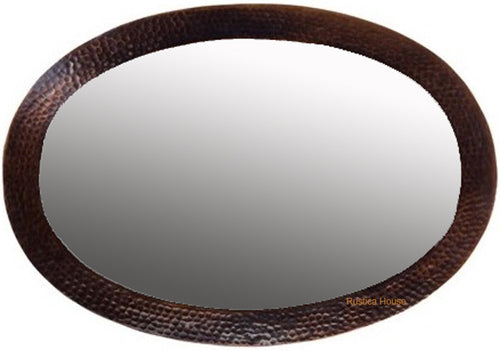 minimalist copper mirror