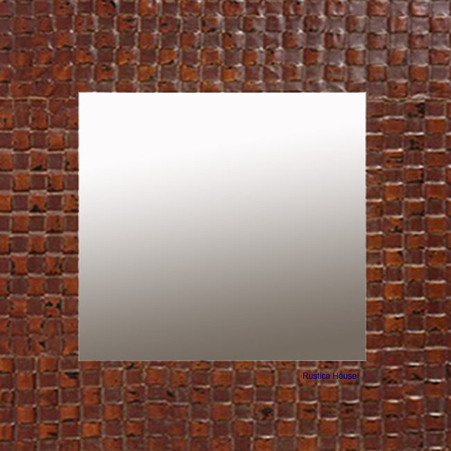 punched copper mirror