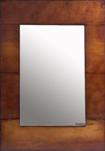 contemporary copper mirror frame