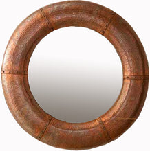 round copper mirror