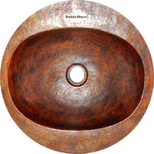contemporary round copper bathroom sink