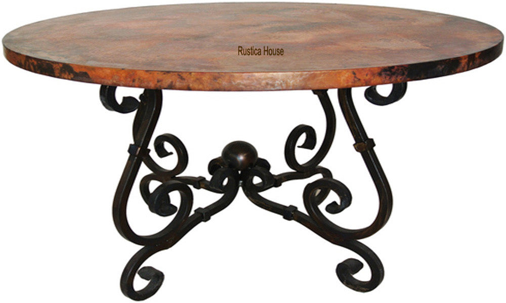 spanish design copper dining table