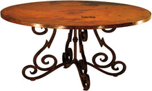 hand hammered country copper table