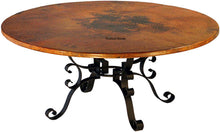 hand produced antique copper table