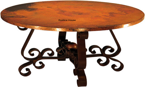 hand made colonial copper table