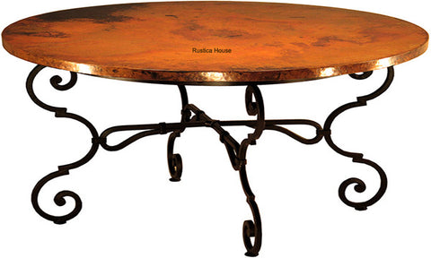 handcrafted country copper table