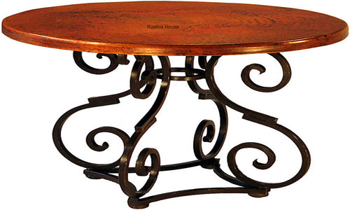 handcrafted colonial copper dining table
