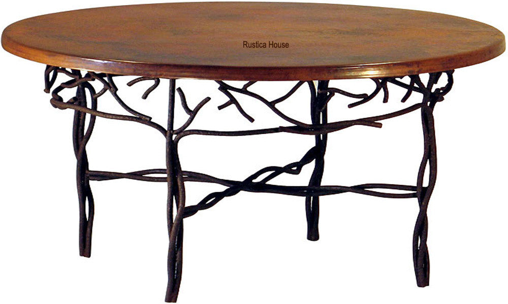 hand hammered spanish copper table