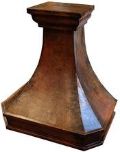 made to order farmhouse copper kitchen cook-top hood