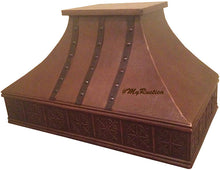 custom classic copper kitchen stove hood