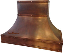 custom hacienda copper kitchen oven hood