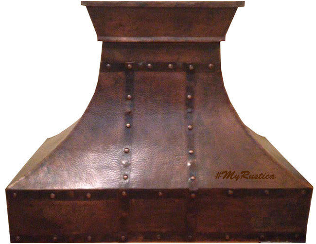 Spanish copper cook-top hood