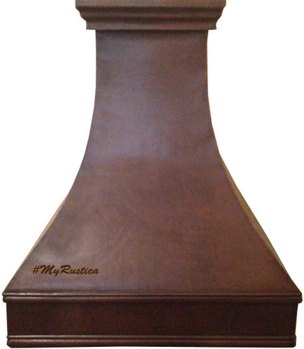 farmhouse copper cook-top hood