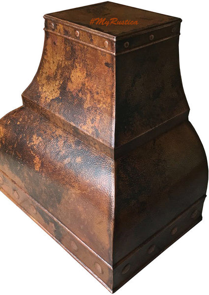 made to order country copper kitchen stove hood