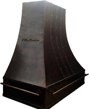 made to order rustic copper kitchen range hood