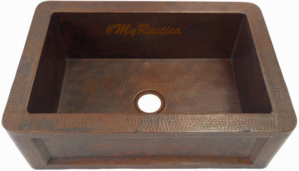 hacienda apron copper kitchen sink
