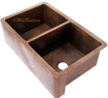 rustic apron copper kitchen sink