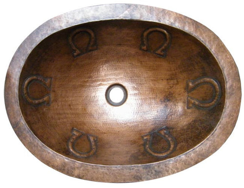 antique oval copper bathroom sink