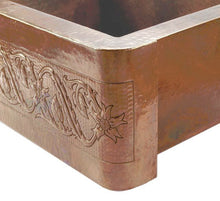 designing for small space kitchen apron copper sink detail