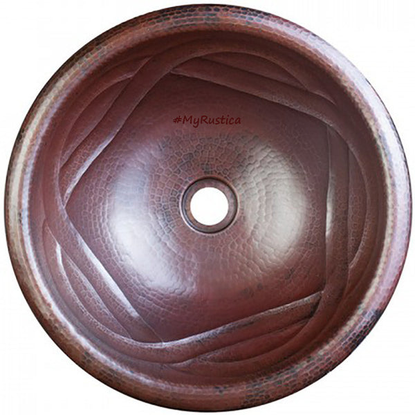 modern hacienda copper bathroom sink round