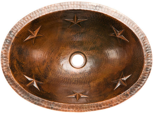 mexican oval copper bathroom sink