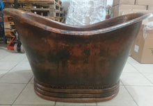 small copper bathtub