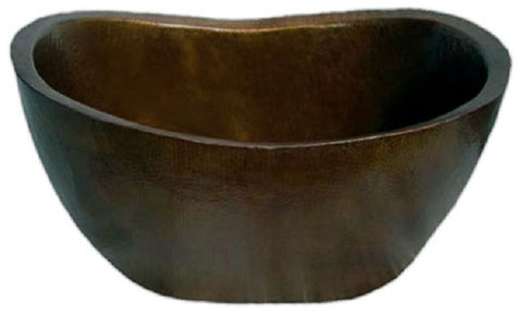 vintage hand made copper tub
