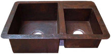 hand fabricated copper kitchen sink