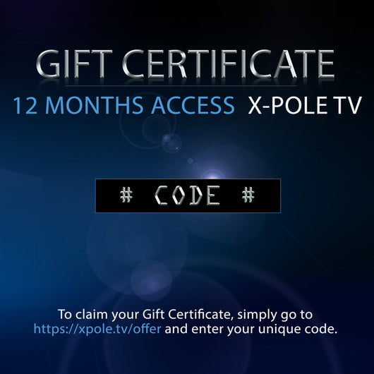 GIFT CERTIFICATE X-POLE TV