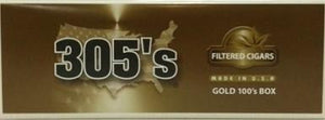 305's Gold Box 100 Filter Cigars