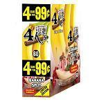 4 KINGS CIGARILLOS 1-45 CIGARS BANANA SPLIT PP 4/99¢
