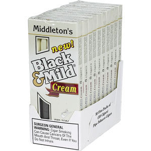 Black & Mild Pipe Tobacco Cigars Cream 5Pk