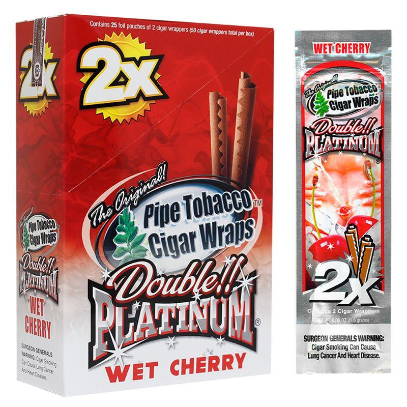 pink double blunt gum platinum wrap bubble