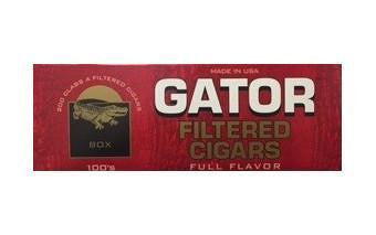 Gator filtered Cigars Full Flavor 100's
