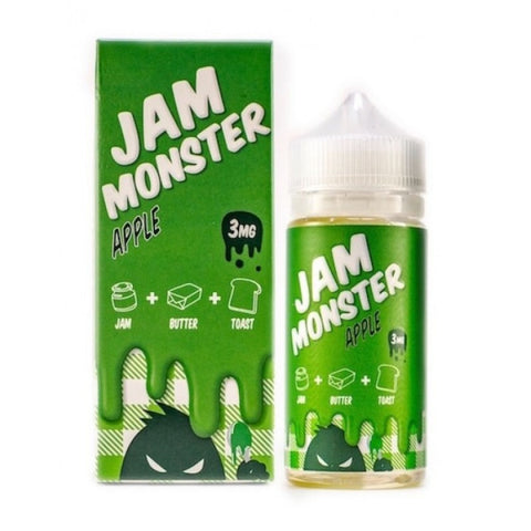 Jam Monster eJuice Apple 100mL+ COTTON BACON BITS