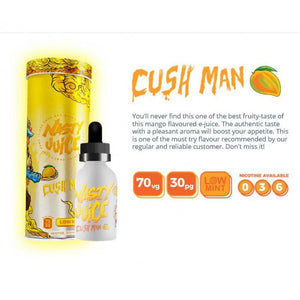 NASTY JUICE YUMMY FRUITY SERIES CUSH MAN FRASH LOW MINT MANGO 50ML