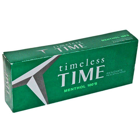 Timeless Time Menthol 100's Box