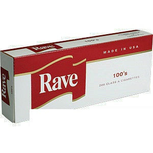 Rave red Box 100's