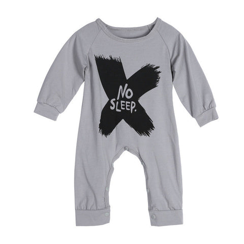Soft Cotton Newborn Baby Rompers One-piece Suit Spring Autumn Kids Toddlers Long Sleeve Letter Print Rompers Jumpsuits